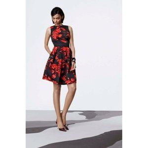 Taylor Floral Print Fit & Flare Dress 8 NEW